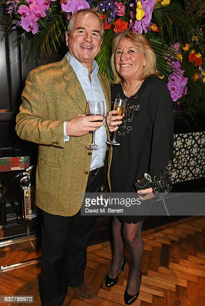 Alan Lamb and Lindsay Lamb attend the launch of new luxury hotel The LaLit London on January 26 2017 in London England