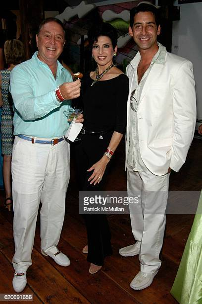 Alan Lazare, Arlene Lazare and Michael Mione attend Help for Orphans International Summer Benefit at Nova's Ark Project on July 25, 2008 in...
