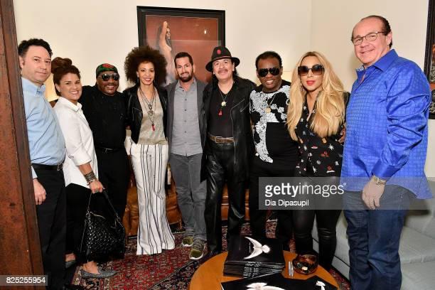 Alan Light, Tracy Isley, Ernie Isley, Cindy Blackman Santana, Sony Music Entertainment Legacy Recordings president Adam Block, Carlos Santana, Ronald...