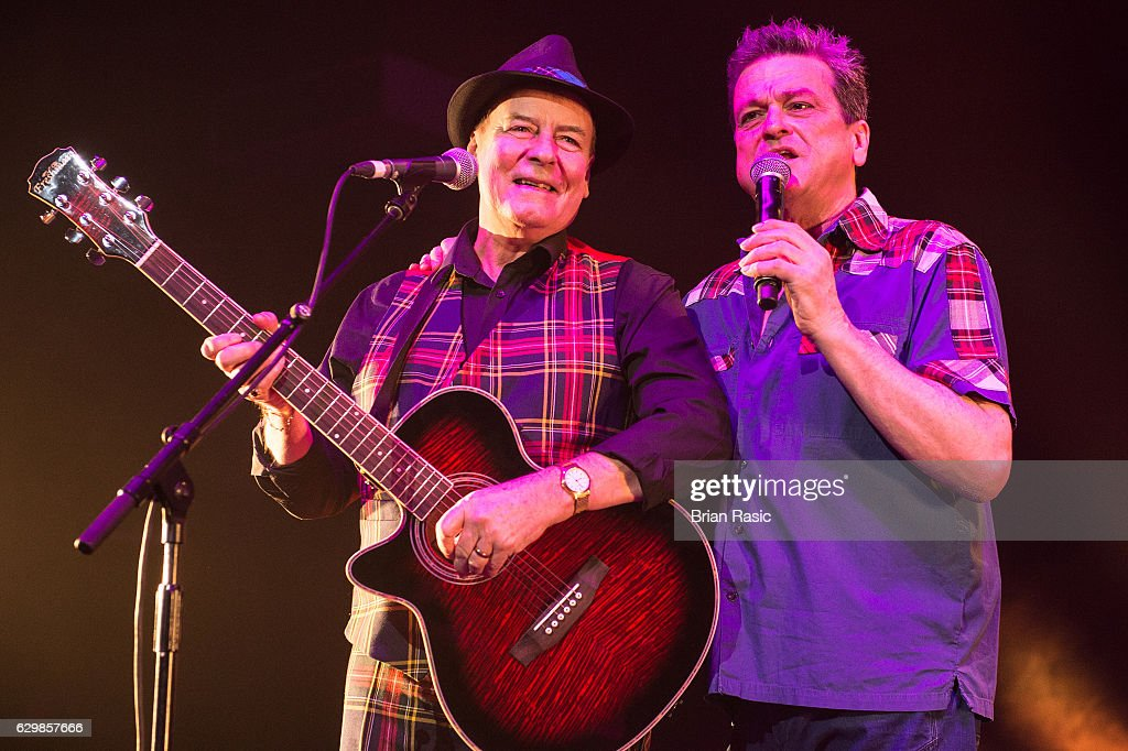 Alan Longmuir and Les McKeown of The Bay City Rollers perform at Eventim Apollo on December 14, 2016 in London, England.