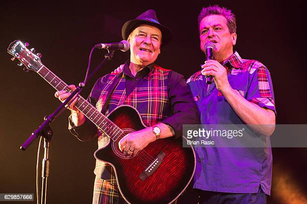 Alan Longmuir and Les McKeown of The Bay City Rollers perform at Eventim Apollo on December 14 2016 in London England