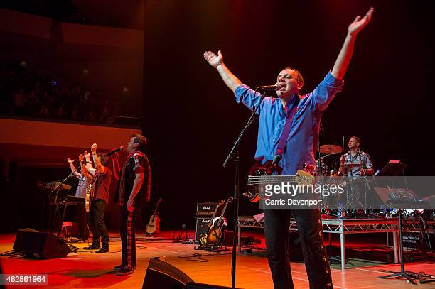 Alan Longmuir of the Bay City Rollers performs on stage at Waterfront Hall on February 6 2015 in Belfast United Kingdom