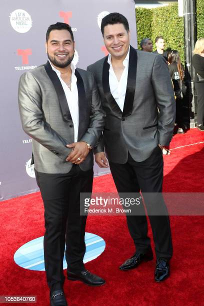 Alan Manuel Ramirez Salcido and Sergio Lizarraga of Banda MS attend the 2018 Latin American Music Awards at Dolby Theatre on October 25 2018 in...