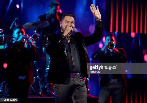 Alan Manuel Ramirez Salcido of Banda MS performs onstage during the 2018 Latin American Music Awards at Dolby Theatre on October 25 2018 in Hollywood...