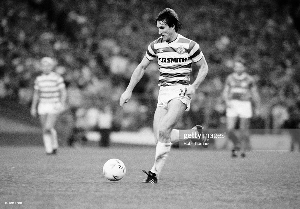 Alan McInally of Celtic in action against Rangers during the Skol Cup Final held at Hampden Park, Glasgow on 26th October 1986. Rangers beat Celtic 2-1. (Bob Thomas/Getty Images).