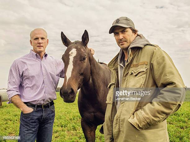 Alan Meeker and Adolfo Cambiaso are photographed with a clone of Small Person for Vanity Fair o April 28 2015 at Cambiaso's farm in Cordoba Province...