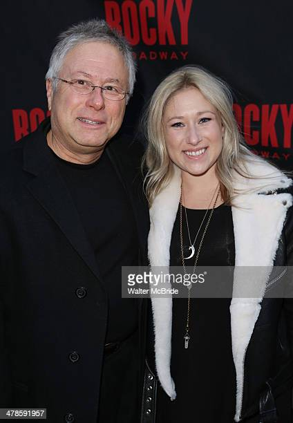 Alan Menken and daughter Anna Rose attend the 'Rocky' Broadway Opening Night at Winter Garden Theatre on March 13 2014 in New York City