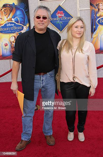 Alan Menken and his daughter Anna Rose Menken attend the 'Beauty and the Beast' SingALong DVD premiere at the El Capitan theater on October 2 2010 in...