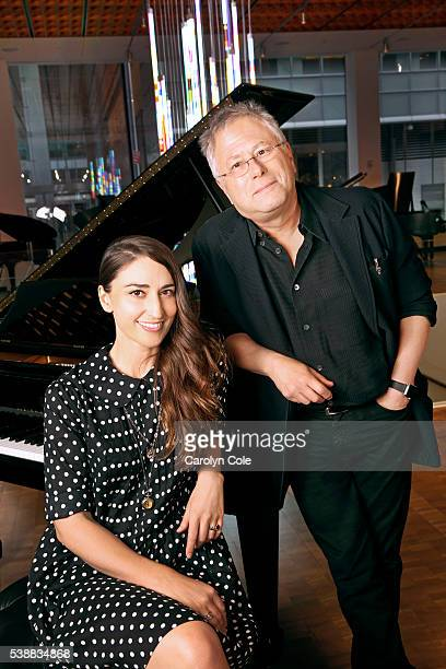 Alan Menken and musician Sara Bareilles are photographed for Los Angeles Times on May 26 2016 in New York City PUBLISHED IMAGE CREDIT MUST READ...