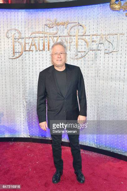 Alan Menken arrives at the world premiere of Disney's new liveaction 'Beauty and the Beast' photographed in front of the Swarovski crystal wall at...
