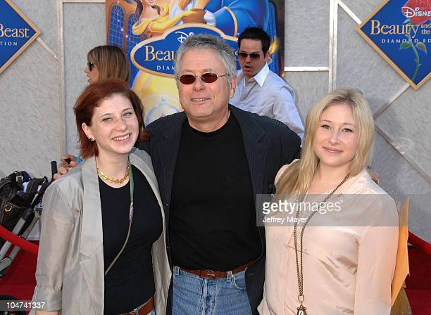 Alan Menken composer with daughters Nora and Anna arrive at Walt Disney Studios Beauty and The Beast SingAlong at the El Capitan Theatre on October 2...