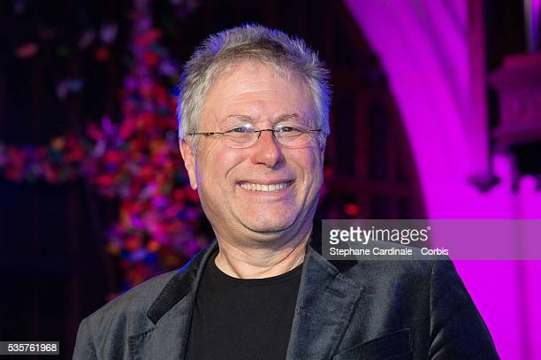 Alan Menken poses during the presentation of the Sister Act Musical Comedy at the American Church in Paris