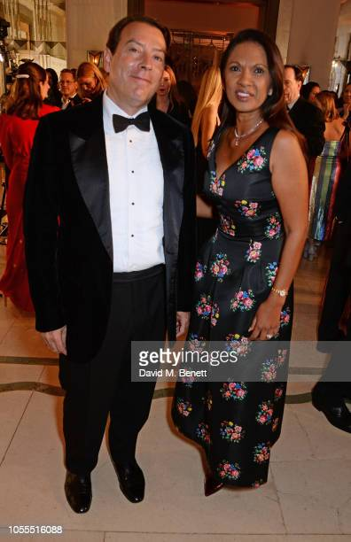 Alan Miller and Gina Miller attend the Harper's Bazaar Women Of The Year Awards 2018 in partnership with Michael Kors and MercedesBenz at Claridge's...