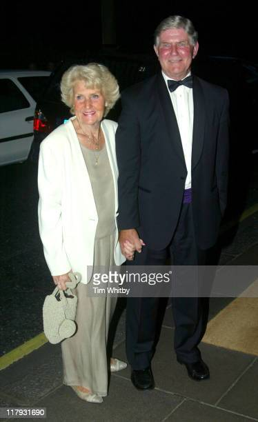 Alan Mills and guest during 2005 Wimbledon Championships Champions Dinner at The Savoy Hotel in London Great Britain