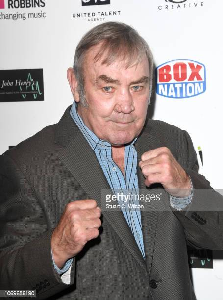 Alan Minter attends the Nordoff Robbins Championship Boxing Dinner at the London Hilton on November 19 2018 in London England