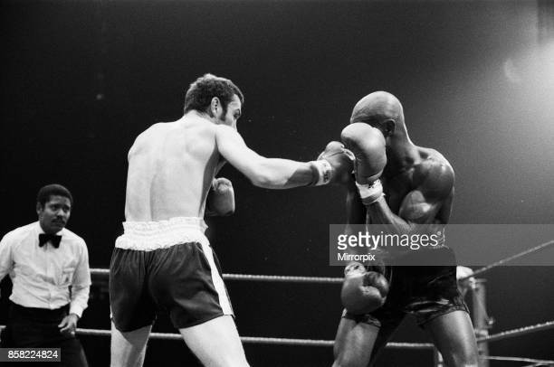 Alan Minter vs Marvin Hagler WBA and WBC world middleweight title fight Wembley Arena London England This was a grudge match in which Hagler won by...