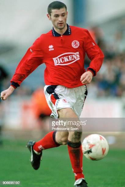 Alan Moore of Middlesbrough in action during the Endsleigh League Division One match between Millwall and Middlesbrough at The New Den on February 26...
