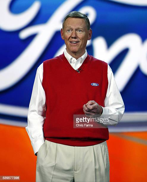 Alan MulallyPresident and CEO Ford Motor Co speaks during his keynote address for the 2009 International Consumer Electronics Show at the Venetian...