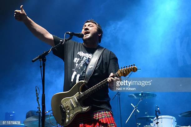 Alan Nimmo of King King performs at Motorpoint Arena on February 19 2016 in Sheffield England