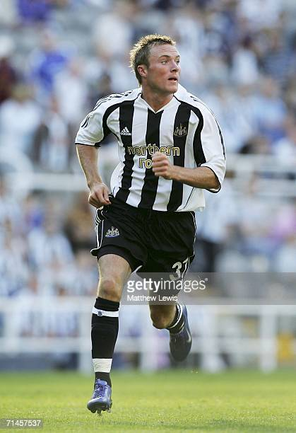 Alan O'Brien of Newcastle United in action during the Intertoto Cup 3rd round match between Newcastle United and Lillestrom at St James Park on July...