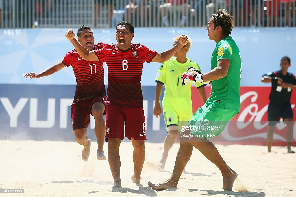 Alan Of Portugal Celebrates A Goal During The Fifa Beach Soccer World Cup Portugal  Group