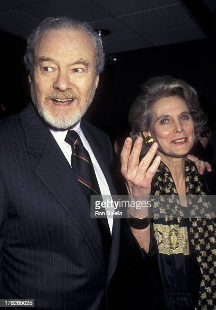Alan Pakula and Hannah Pakula attend the premiere of The Devil's Own on March 13 1997 at Cinema One in New York City