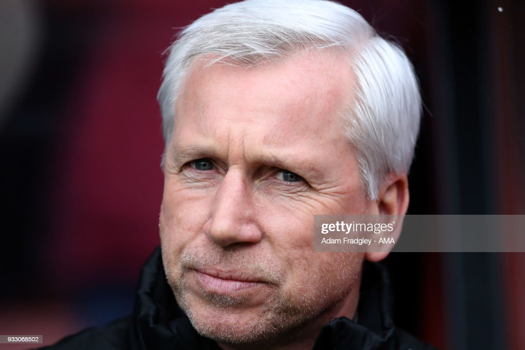 Alan Pardew head coach / manager of West Bromwich Albion during the Premier League match between AFC Bournemouth and West Bromwich Albion at Vitality Stadium on March 17, 2018 in Bournemouth, England.