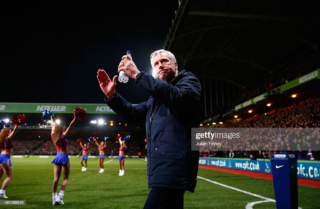 Alan Pardew, manager of Crystal Palace arrives for his first home game in charge during the Barclays Premier League match between Crystal Palace and Tottenham Hotspur at Selhurst Park on January 10, 2015 in London, England.