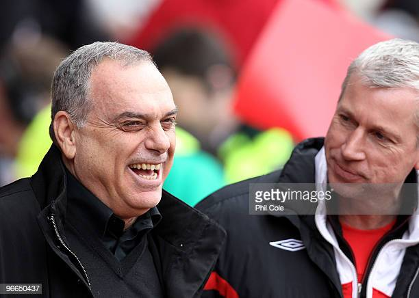 Alan Pardew Manager of Southampton on the right talks with Avram Grant Manager of Portsmouth before the FA Cup sponsored by E.ON fifth round match...