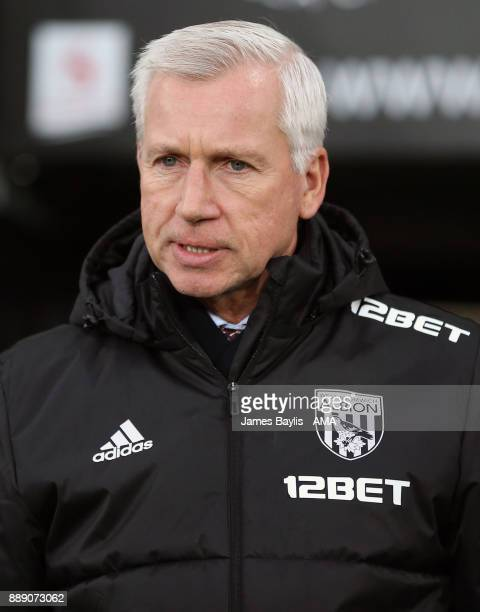 Alan Pardew the head coach / manager of West Bromwich Albion during the Premier League match between Swansea City and West Bromwich Albion at Liberty...