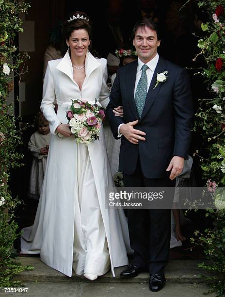 Alan Parker leaves Christ Church Kensington after marrying Jane Hardman at Christ Church Kensington on March 9 2007 in London England Gordon Brown...