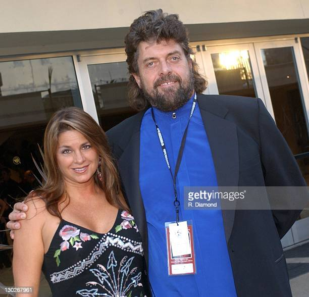 Alan Parsons and guest during 2004 Latin Recording Academy Person of the Year Tribute Event Honoring Carlos Santana at Century Plaza Hotel in Los...