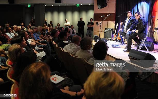 Alan Parsons discusses his career with GRAMMY Foundation vice president Scott Goldman at An Evening With Alan Parsons at The GRAMMY Museum on...