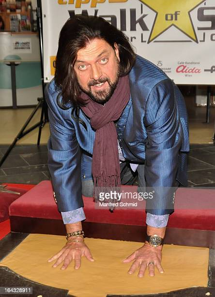 Alan Parsons is honored at the 'Walk Of Stars' at Gasometer Music City Vienna on March 22 2013 in Vienna Austria