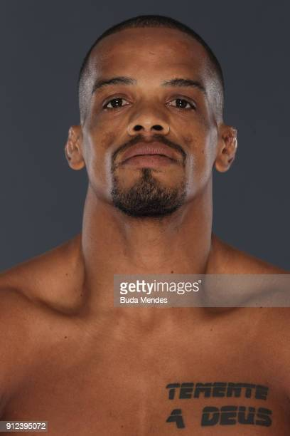 Alan Patrick of Brazil poses for a portrait during a UFC photo session on January 30 2018 in Belem Brazil