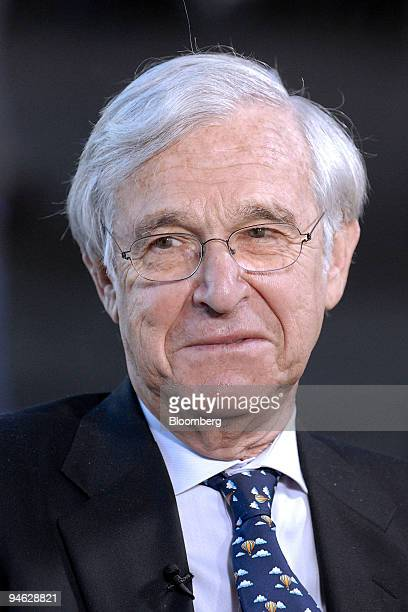 Alan Patricof founder and managing director of Greycroft LLC speaks during an interview at the Milken Institute Global Conference 2007 in Beverly...