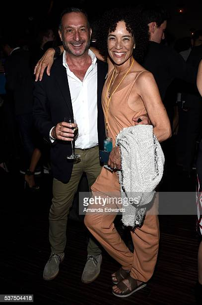 Alan Poul, Board of Directors of Film Independent and Los Angeles Film Festival director Stephanie Allain attend the after party for the premiere of...