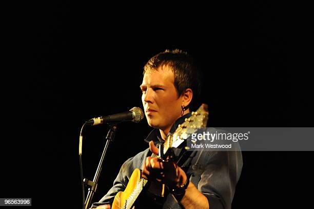 Alan Pownall performs on stage at Hoxton Bar on February 10 2010 in London England