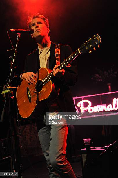 Alan Pownall performs on stage at Shepherds Bush Empire on April 22 2010 in London England