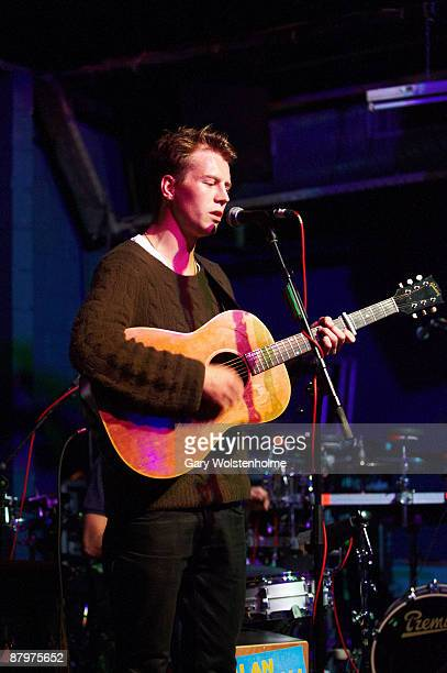 Alan Pownall performs on stage at The Plug on May 20 2009 in Sheffield England