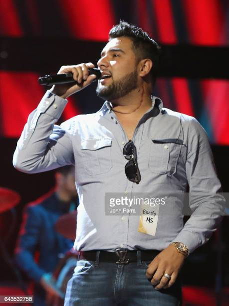 Alan Ramirez of Banda MS rehearses on stage at Univision's 29th Edition Of Premio Lo Nuestro A La Musica Latina Rehearsals Day 2 on February 21 2017...