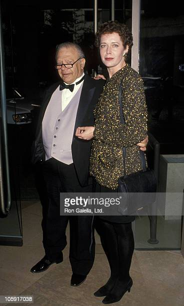 Alan Rich and Sylvia Kristel during Benefit to Honor Menachem Golan at Beverly Hilton Hotel in Beverly Hills California United States