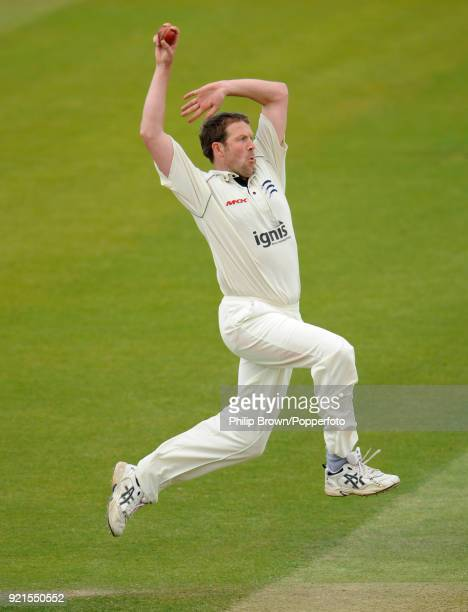 Alan Richardson bowling for Middlesex during the LV County Championship match between Middlesex and Glamorgan at Lord's Cricket Ground London 25th...