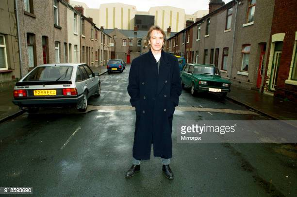 Alan Rickman, Actor, pictured on the streets of Barrow In Furness where he is due to play Hamlet, for the price of £200 per week, 27th October 1992.