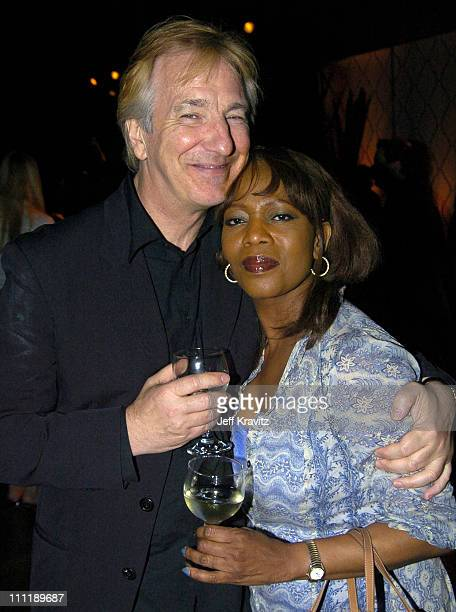 Alan Rickman and Alfre Woodard during HBO Films' Something the Lord Made at DGA in Los Angeles California United States