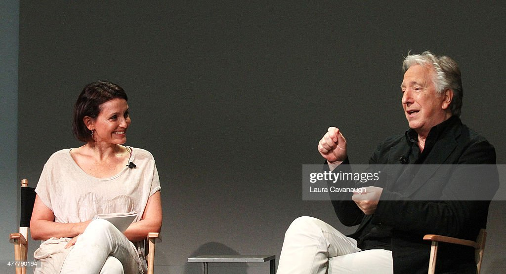Alan Rickman and Alison Bailes attend Apple Store Soho: Meet the Filmmaker: Alan Rickman, 'A Little Chaos' at Apple Store Soho on June 19, 2015 in New York City.