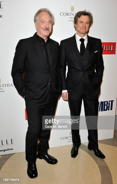 Alan Rickman and Colin Firth attends an after party following the World Premiere of 'Gambit' at Massimo Restaurant Oyster Bar in the Corinthia Hotel...