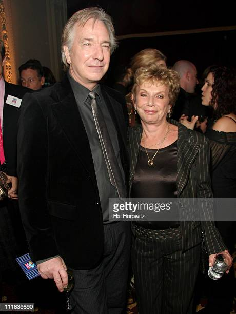 Alan Rickman and Dena Hammerstein during Sixth Annual Gala Benefit for Only Make Believe at The Hudson Theatre in New York City New York United States