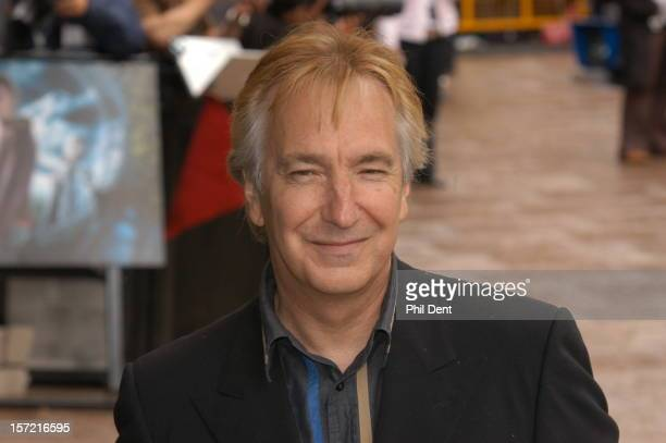 Alan Rickman appears at the premiere of the second Harry Potter film Leicester Square London 30 May 2004
