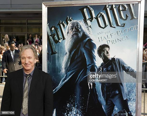 Alan Rickman arrives at the New York premier of Harry Potter and the HalfBlood Prince July 9 2009 in New York AFP PHOTO/DON EMMERT